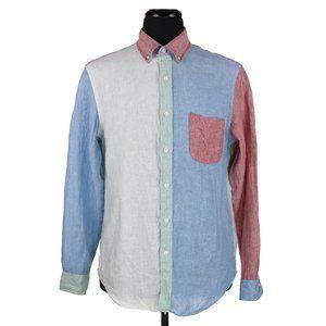 J Crew Baird McNutt Linen Slim Long Sleeve Shirt